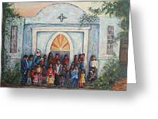 Mexican Church Greeting Card