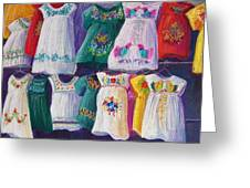 Mexican Dresses Greeting Card