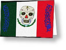 Mexican Flag Of The Dead Greeting Card