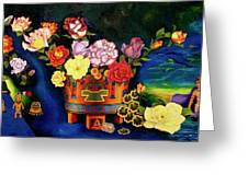 Mexican Flowers Greeting Card