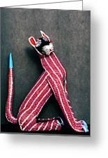 Mexican Folk Art Cat Greeting Card
