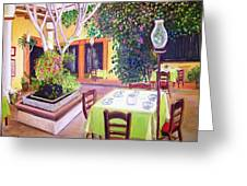 Mexican Garden Restaurant Greeting Card