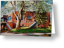 Mexican Home With Ghosts Images Greeting Card by Bobbi Baltzer-Jacobo