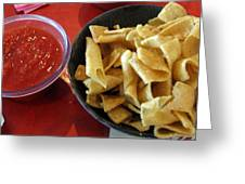 Mexican Inn Chips And Salsa Greeting Card