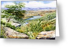 Mexican Landscape Watercolor Greeting Card