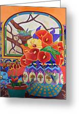 Mexican Lilies Greeting Card