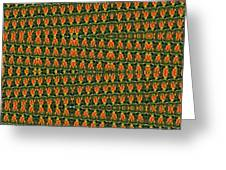 Mexican Poppy Field Abstract Greeting Card