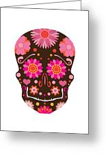 Mexican Skull Art Illustration Greeting Card