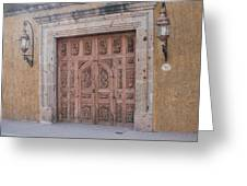 Mexico Door 1 By Tom Ray Greeting Card
