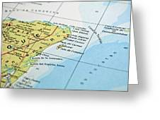 Mexico Map Greeting Card