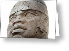 Mexico: Olmec Head Greeting Card