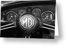 Mg Midget Dashboard Greeting Card