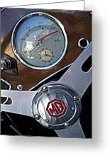M G Sportster Greeting Card