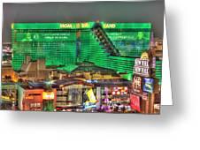 Mgm Grand Las Vegas Greeting Card by Nicholas  Grunas