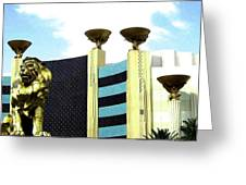 Mgm Lion In Las Vegas Greeting Card