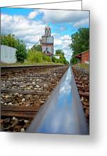 Mi New Haven Rail Road Reflections Greeting Card