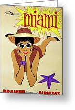 Miami Travel By Braniff Airways  1960 Greeting Card