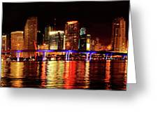 Miami At Night -2 Greeting Card