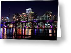 Miami At Night -3 Greeting Card