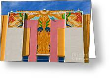 Miami Beach Art Deco Greeting Card