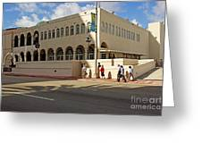 Miami Beach Synagogue Saturday Morning Greeting Card