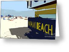 Miami Beach Work Number 1 Greeting Card