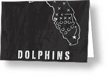 Miami Dolphins Art - Nfl Football Wall Print Greeting Card by Damon Gray