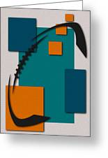 Miami Dolphins Football Art Greeting Card