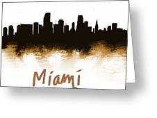 Miami Fla 2 Skyline Greeting Card