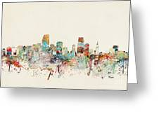 Miami Florida City Skyline Greeting Card