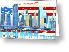 Miami Florida City Skyline Greeting Card