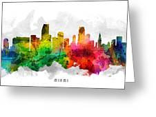 Miami Florida Cityscape 12 Greeting Card