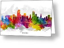 Miami Florida Cityscape 13 Greeting Card
