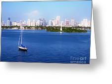 Miami Florida Skyline Greeting Card