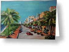 Miami For Daisy Greeting Card by Dyanne Parker