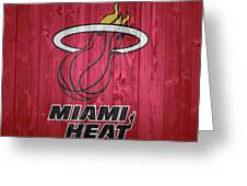 Miami Heat Barn Door Greeting Card