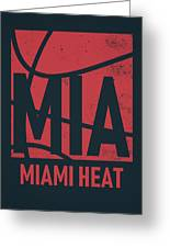 Miami Heat City Poster Art Greeting Card