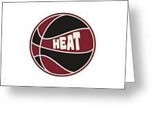 Miami Heat Retro Shirt Greeting Card