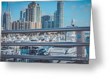 Miami Marina Greeting Card