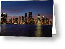 Miami Nights Greeting Card
