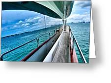 Miami Reflection Greeting Card