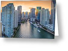Miami River Fron The Drone Greeting Card