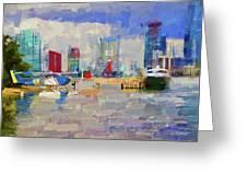 Miami Seaplane Greeting Card