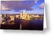 Miami Skyline 3 Greeting Card