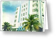 Miami South Beach Ocean Drive 4 Greeting Card