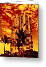 Miami South Pointe IIi Greeting Card