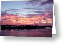 Miami Sunrise Greeting Card