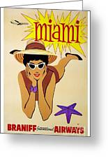Miami Travel Poster Greeting Card