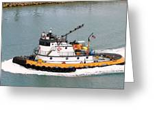 Miami Tug Greeting Card
