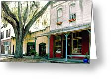 Micanopy Storefronts Greeting Card